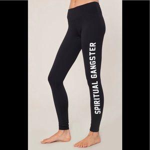 Spiritual Gangster Logo Practice Legging Pants M